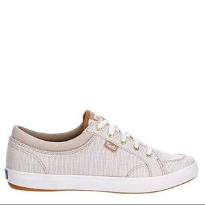 Keds tan and white striped women's shoe size 7.5